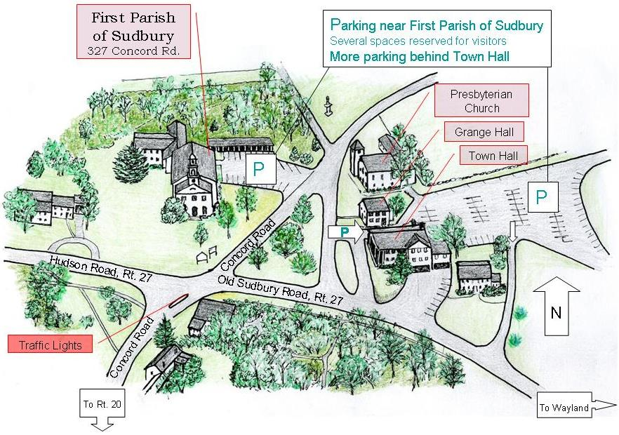 Where To Park For First Parish Of Sudbury First Parish