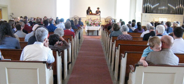 Worship Service in the First Parish Sanctuary