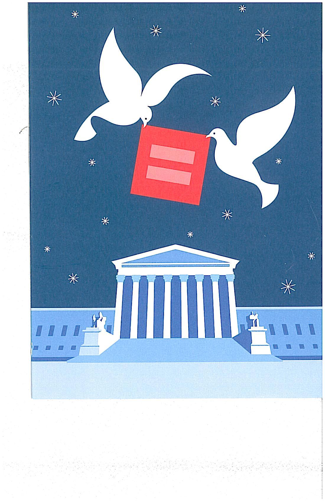 equal sign over washington w doves