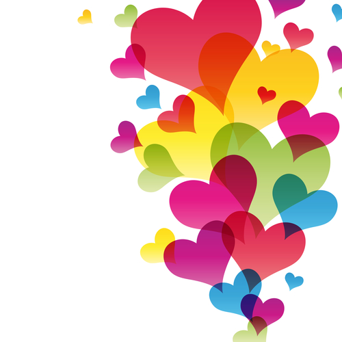 hearts background vector Illustration for your design
