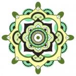 Mandala.Pagan symbol. Schematic representation of the sacred