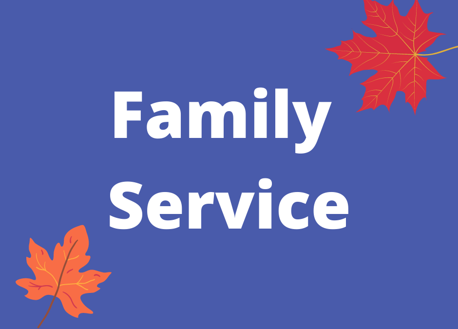 Family Service: Sunday, November 14, 4 pm