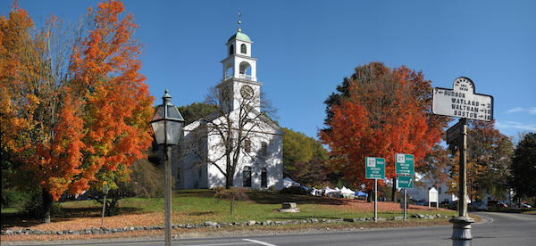 The Meetinghouse in the Fall of 2008 during the Harvest Craft Fair.