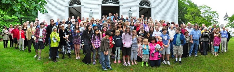 First Parish Congregation after the Flower Communion in 2011